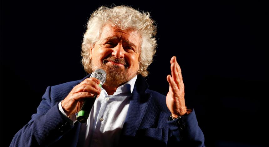 Beppe Grillo, líder do M5E